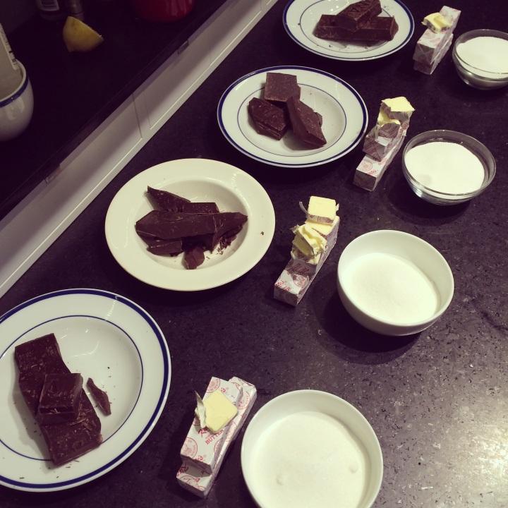 Chocolate mise en place