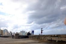 Fishing along El Malecón.