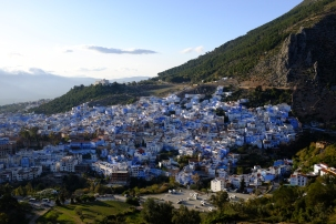 The view of the Chefchaouen from the Spanish Mosque.