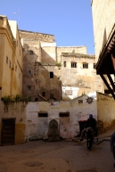 Wandering the medina, with donkey.