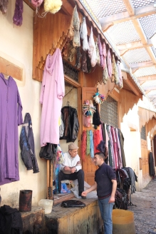 In the dying souk.