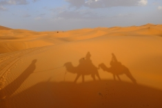 The Sahara Desert (Erg Chebbi).