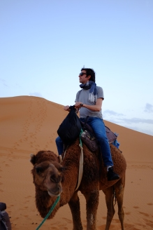 A man and his camel.