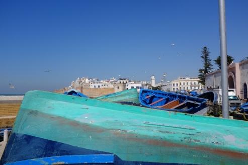 Fishing boats at the harbor.